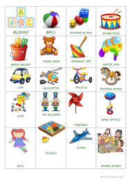 toy simple flash cards english esl