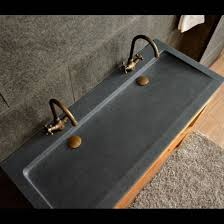 bathroom dark grey granite double