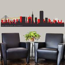 San Francisco 49ers Nfl Skyline Wall Decal By American Decals