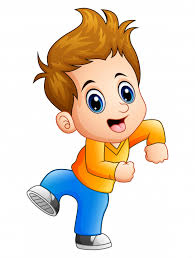 happy cute boy cartoon posing premium