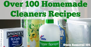 lots of homemade cleaners recipes you