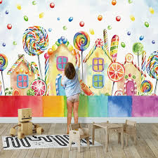 Photo Wallpaper 3d Cartoon House Lollipop Children S Room Background Wall Murals Eco Friendly Home Decor Wallpaper For Walls 3 D Wallpapers Aliexpress