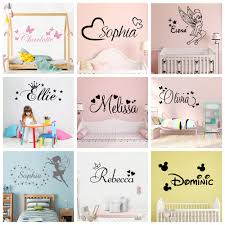 Super Sale 0cf800 Colorful Custom Name Wall Sticker Vinyl Decal For Babys Room Personalized Stickers Wallpaper Kids Bedroom Decor Wall Decals Cicig Co