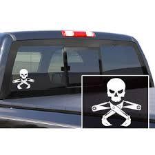300 Industries Vinyl Graphics Sticker Decal Jolly Roger Skull Construction Crane 6x6 2pk White