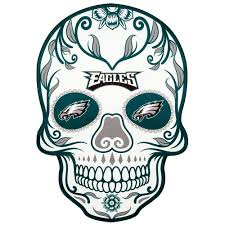 Applied Icon Nfl Philadelphia Eagles Outdoor Skull Graphic Small Nfos2501 The Home Depot