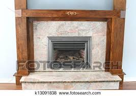 gas fireplace with wood trim stock