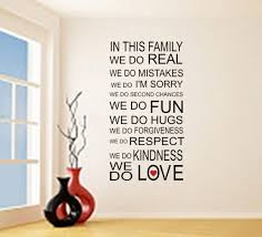 Amazon Com In This Family We Do Love Vinyl Wall Quote Sticker Family Rules Wall Decal Decor Handmade