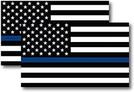 Amazon Com Thin Blue Line American Flag Magnet Decal 5 Inch X 3 Inch 2 Pack Heavy Duty For Car Truck Suv In Support Of Police And Law Enforcement Officers Automotive