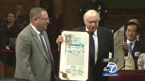 Veteran actor Norman Lloyd celebrated by Los Angeles City Council ...