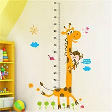 Removable Height Chart Measure Wall Sticker Decal For Kids Baby Room Giraffe Walmart Com Walmart Com