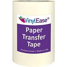 Amazon Com Vinyl Ease 6 Inch X 100 Feet Roll Of Paper Transfer Tape With A Medium To High Tack Layflat Adhesive Works With A Variety Of Vinyl Great For Decals Signs Wall