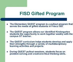 gifted and talented information for