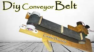 how to make a mini conveyor belt