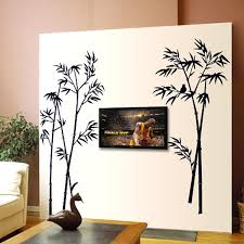 Black Color Bamboo Wall Stickers Pvc Material Diy Art Wall Decals For Living Room Bedroom Sofa Background Wall Home Decor Murals Wall Decals Bamboo Wall Stickerswall Sticker Aliexpress