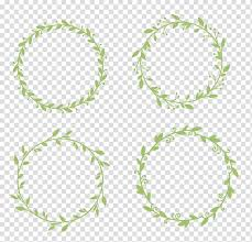 Round Yellow Leaves Decors Sticker Wedding Gift Wall Decal Garland Lace Hand Painted Border Transparent Background Png Clipart Hiclipart