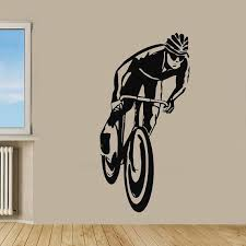 Shop Bicycle Rider Boy Sportsman Gym Sport Decal Home Interior Art Mural Kids Nursery Room Decor Sticker Decal Size 44x70 Color Black Overstock 14553629