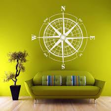 G181 Wall Decal Vinyl Sticker Wind Rose Compass Travel Geography Decor Compass Wall Stickers Decorative Art Akolzol Com