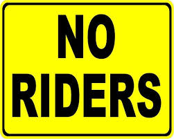 Amazon Com No Riders Decal 11x17 5 Pack 5 Decals Company Truck Warehouse Safety Decals Everything Else