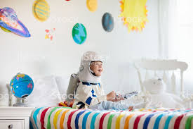 Kids Play Astronaut Space And Planet Child Game Stock Photo Download Image Now Istock