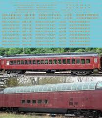Ho Scale Reading Northern Passenger Car Decals Rbmn Lgs Ebay Car Decals Passenger Ho Scale