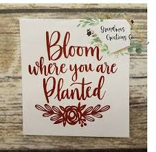 Bloom Where You Are Planted Vinyl Decal Yeti Tumbler Decal Laptop Decal Ebay