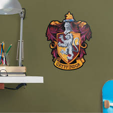 Fathead Harry Potter Gryffindor House Sigil Large Officially Licensed Removable Wall Decal Walmart Com Walmart Com