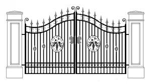 Fence Cartoon Clipart Fence Garden Line Transparent Clip Art