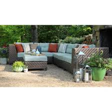 7 piece patio sectional seating set