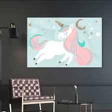 Shop Oliver Gal Unicorn And The Moon Fantasy And Sci Fi Wall Art Canvas Print Pink Gold Overstock 28633799