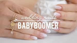 Babyboomer Nails Wedding Nails Slubny Manicure Hybrydowy