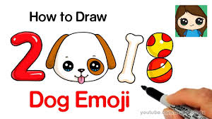 How to Draw a Dog Emoji Easy