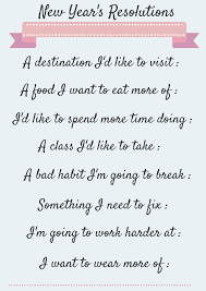inspirational happy new year resolutions ideas poems quotes