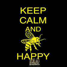 Keep Calm And Bee Happy Vinyl Sticker Decal Beekeeper Bees Hive Car Truck Window Ebay