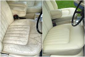 leather seats of a classic car