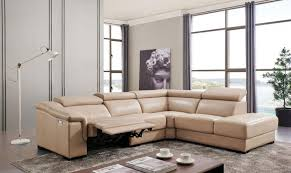 beige leather living room sectional