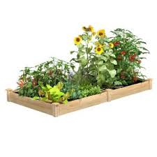 Greenes Fence 2 Ft X 8 Ft X 7 In Original Cedar Raised Garden Bed Rc24967 The Home Depot