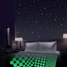 Glow In The Dark Stars For Ceiling Or Wall Stickers 400 Adhesive Dots Glowing Wall Decals Stickers Room Decor Kit Galaxy Glow Star Set And Solar System Decal For Kids