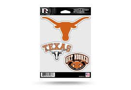 Texas Longhorns Window Decal Sticker Set Officially Licensed Custom Sticker Shop