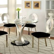 round pedestal glass top dining table