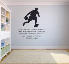 Strive For Perfection Michael Jordan Basketball Quotes Sports Inspiration Quote Wall Decal Vinyl Sticker Design For Boys Girls Room Home Court Bedroom Decor Wall Art Mural Decoration Size 20x12 Inch Walmart Com