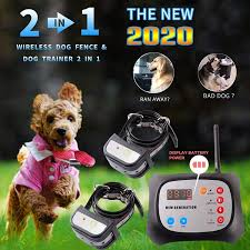Justpet Wireless Dog Fence Remote Dog Training Collar 2 In 1 System Safe Harmless Electric Dog Wireless Fence Adjustable Range Waterproof Reflective Collar Upgraded Wireless Dog Fence 1 Collar Justpet Pet