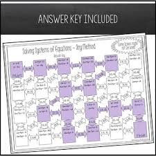 solving systems of equations maze all
