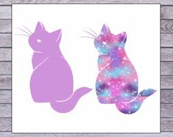 Cat Cup Decal Etsy