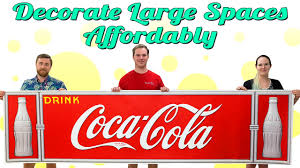 Diy Wall Decor Large Coca Cola Wall Decals From Retro Planet Youtube