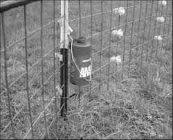 An Electric Fence Charger Was Attached Near A T Post And On A Panel Download Scientific Diagram