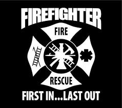 Firefighter Decal Firefighter Maltese Cross Firefighter Etsy