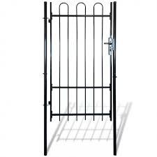 Fence Gate Spear Top Single Rail Garden Barricade Patio Wall Panels Block Black Fence Gate Patio Wall Garden Fencing