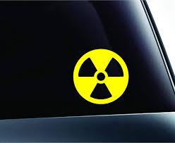 Amazon Com Radioactive Symbol Biohazard Chemical Danger Computer Laptop Symbol Decal Family Love Car Truck Sticker Window Pink Kitchen Dining
