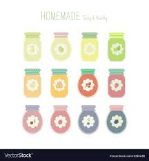 set of jam jars with labels royalty