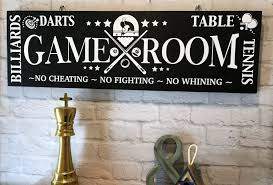 Game Room Rules Home Sign Game Room Sign Garage Decor Entertainment Decor Darts Table Tennis Decor Billiards Garage Game Rooms Game Room Kids Game Room